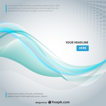 Background template with abstract wave Free Vector