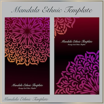 Background template with beautiful gradient mandala ornament