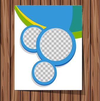 Background template with blue circles
