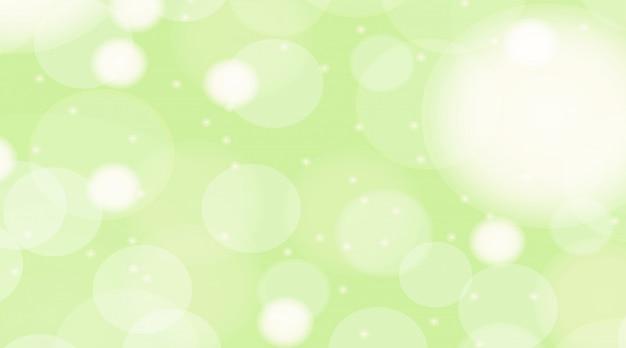 Фон шаблон с ярко-зелеными пузырьками
