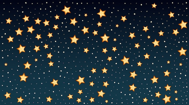 Background template with bright stars in dark sky