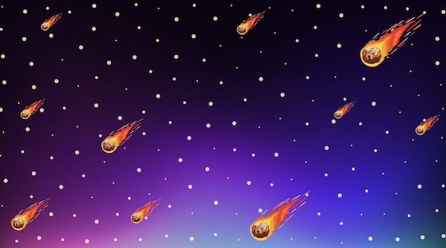 Шаблон фона с яркими звездами в темном небе