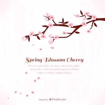 Background template with cherry blossom