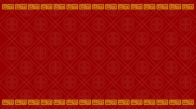 Фон шаблон с китайским рисунком в красном