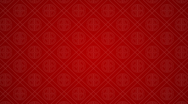 Background template with chinese patterns in red