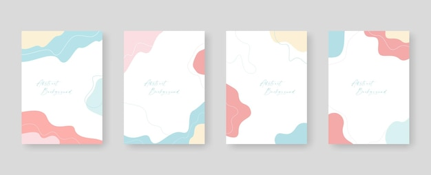 Background template with copy space for text and images design by abstract colored shapes