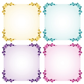 Background template with flower frames