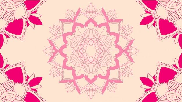 Background template with mandala designs