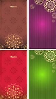 Фоновый шаблон с дизайном мандалы
