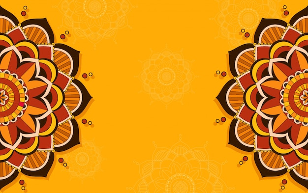 Background template with mandala pattern design
