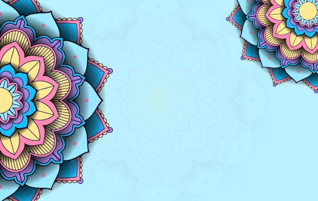 Background template with mandala pattern