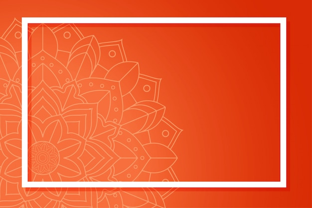 Background template with mandala