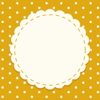 Background template with round frame