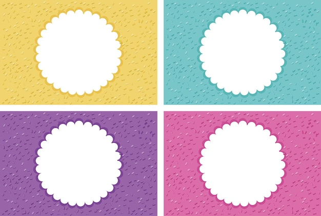 Background template with round frames