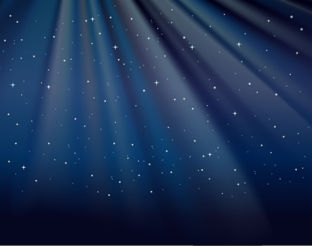 Background template with stars in sky