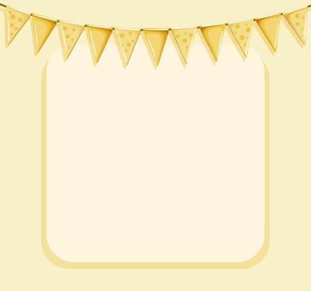Modello di sfondo con bandiere gialle