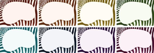 Modello di sfondo con motivi zebrati e cornice