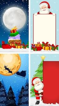 크리스마스 테마의 배경 템플릿