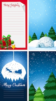Background templates with christmas theme
