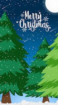 クリスマスをテーマにした背景テンプレート