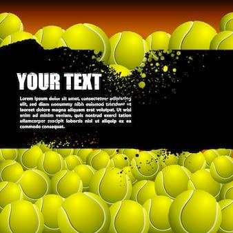 Background of tennis balls