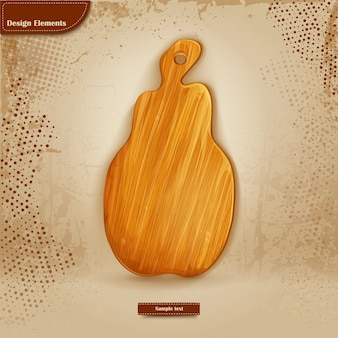 Background for text with wooden cutting board