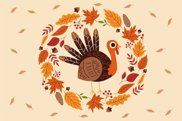 Background thanksgiving in flat design