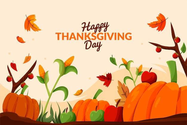 Background thanksgiving in flat design