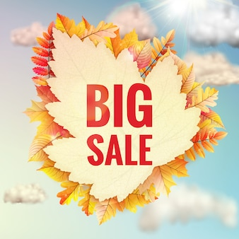 Background on a theme of autumn. sale.