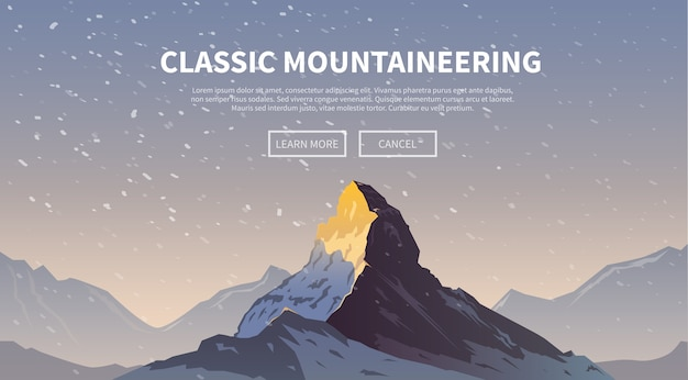 Background on the theme of climbing