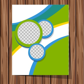 Background theme with green and blue patterns