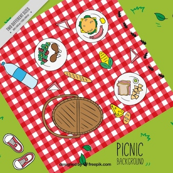 Background themed picnic