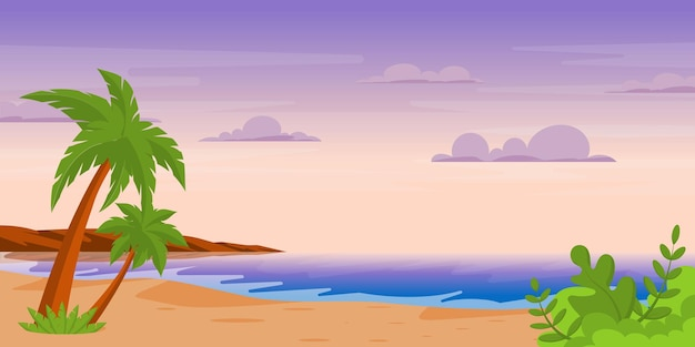 Background of tropical area in flat style