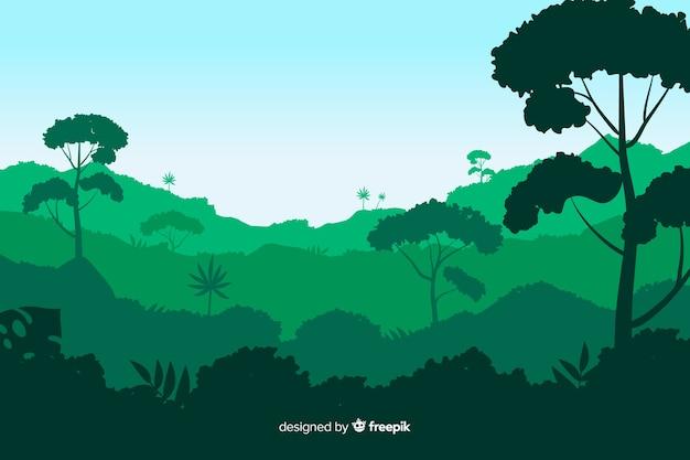 Background tropical forest landscape