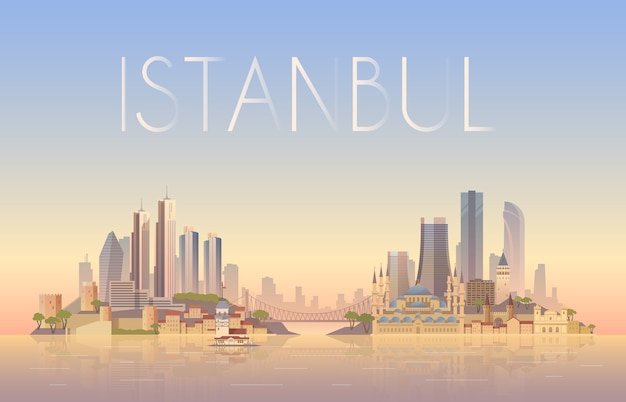 Background of the urban landscape of istanbul