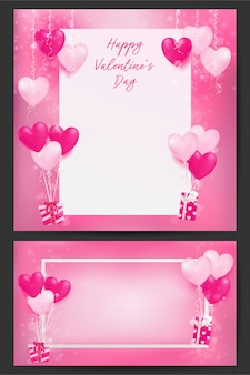 Background of valentine's day illustration with sweet pastel decors