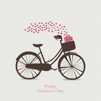 Background for valentine with a bicycle