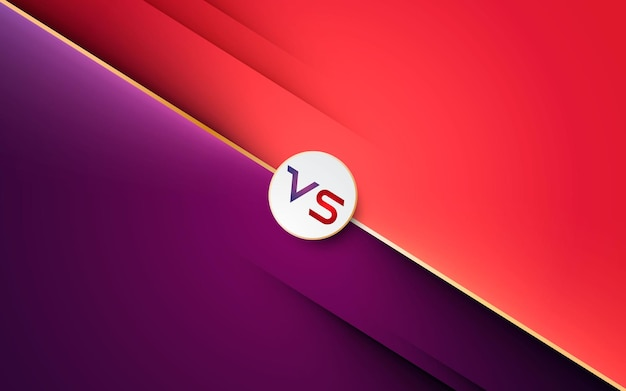 Background for versus style. diagonal diferent color with golden line effect