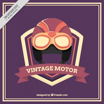 Background of vintage motorcycle helmet