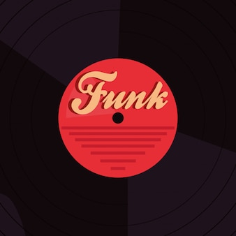 Background vinyl disco funk