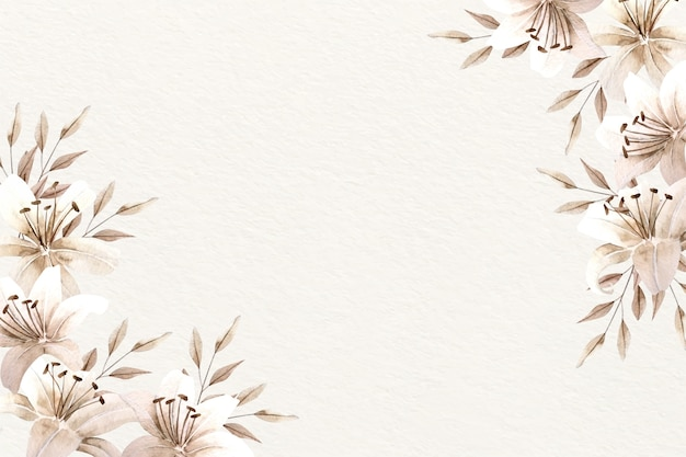 Background watercolor floral with soft colors