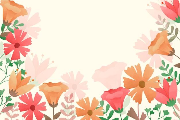 Фон акварельные цветы в пастельных тонах