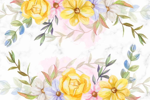 Background watercolor flowers in pastel colors