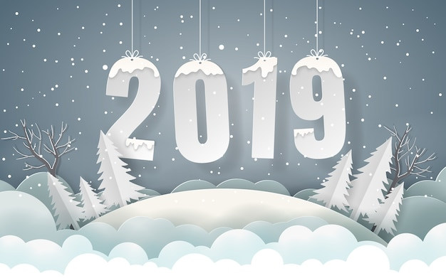 Background of winter season happy new year