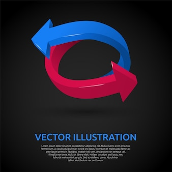 Background with 3d arrows vector illustration