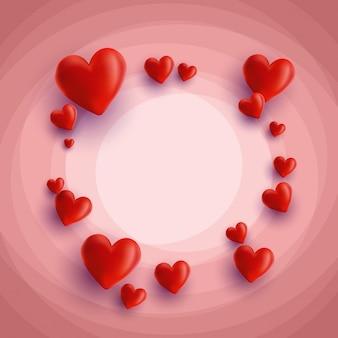 心のデザインと装飾的なバレンタインデーの背景