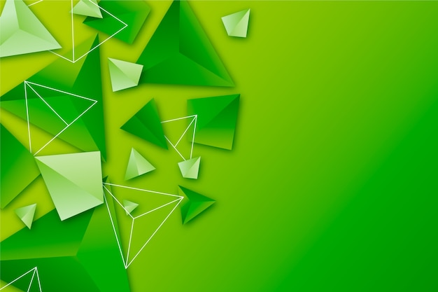Background with 3d triangles in vivid colors