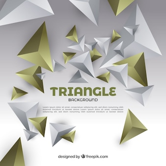 Background with 3d triangles