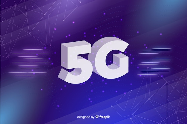 Background with 5g concept