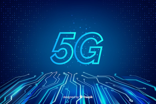 Background with 5g technology